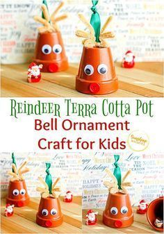 Sometimes the strangest materials make the cutest crafts! Check out this adorable reindeer ornament craft from Sunshine Whispers made from mini terra cotta pots! This is such a cute idea and you and your kids would have a blast making this cutie for Christmas this year! Christmas Crafts For Kids To Make, Easy Crafts For Kids, Holiday Crafts, Christmas Ideas, Christmas Ornaments, Christmas Stuff, Easy Paper Crafts, Diy Arts And Crafts, Cute Crafts
