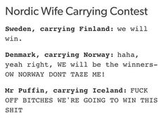 I don't think Norway would tazer (IDK the correct way to spell it), kicking Denmark in the balls or twisting his arm sounds more like.   Mr. Puffin
