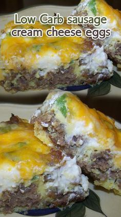 Low Carb sausage, cream cheese, eggs