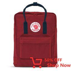 Shop your Kanken bag or backpack from the official Fjallraven US online store. We have Kanken mini, re-Kanken and the original, iconic Kanken bag Kånken Rucksack, Kanken Backpack, Red Backpack, Backpack Bags, Fjällräven Classic, Mochila Kanken, Hard Wear, Better Love, Travel Backpack