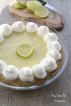 Key Lime Pie | yum! the crust sounds amazing! | NoBiggie.net #recipe