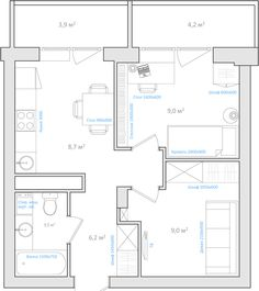 Дизайн однокомнатной квартиры: Бесплатные советы - часть первая (9 ответов)