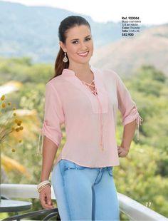 Fashion Sewing, Girl Fashion, Womens Fashion, Blouse Desings, Blouse Batik, Dressy Tops, Long Tops, Blouses For Women, Tunic Tops
