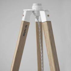Tom Raffield Wooden Tripod in Ash Mobil Origami, Origami Lamp, Diy Floor Lamp, Floor Lamp With Shelves, Wood Table Design, Lamp Design, Wooden Lamp, Wooden Diy, Diy Furniture Appliques