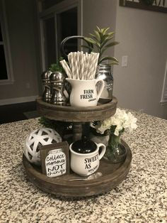 Living Room On A Budget, Kitchen On A Budget, Home Decor Kitchen, Living Room Decor, Simple Home Decoration, 3 Tier Stand, Tiered Stand, Simple House, Dog Bowls