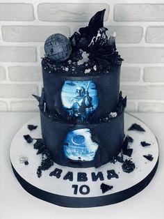 Birthday cake styled Star Wars movie for 10 years old boy, desinged black isomalt and sugar crystals