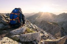 """""""Cooler temperatures have me reminiscing about warm(ish) summer sunrises."""" via with on top of the Pfeifferhorn in August with the Tarak Nature Adventure, Sunrises, Travel Ideas, Places To Visit, Mountain, Warm, Live, Instagram Posts, Summer"""