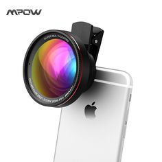 Mpow MFE6 2 in 1 Phone Lens Kit Clip-On 0.6X Wide Angle High Definition Lens w/ 37mm Thread + 10X Macro Lens for Cellphones //Price: $30.76//     #electonics