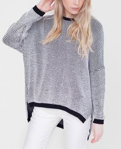 MARYAM Cotton Monochrome Knit Jumper