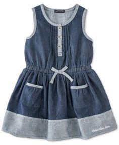 Calvin Klein Baby Girls' Denim Dress