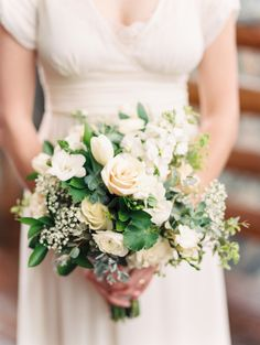 White and green bouquet ♥