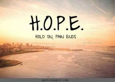 Hold On, Pain Ends #quote