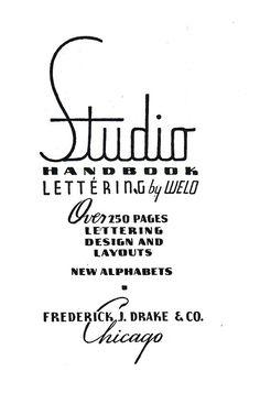Lettering —Frederick J. Drake & Co.