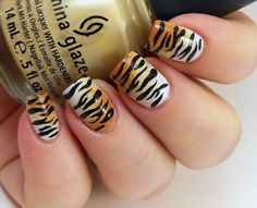 Blueblacksilver tiger stripe nailsnail art pinterest nail art tiger print how you can do it at home pictures designs nail art tiger print for you prinsesfo Choice Image