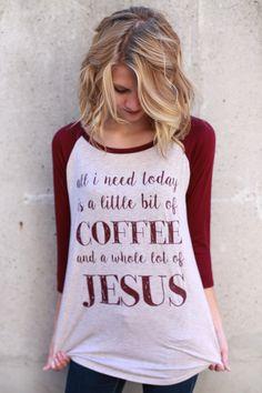Coffee + Jesus Top Burgundy