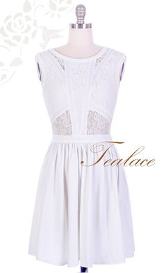 White 1950's Vintage Inspired Lace Essence Dress by TealaceShop if we ever try to throw a faux marriage celebration I'll need a dress