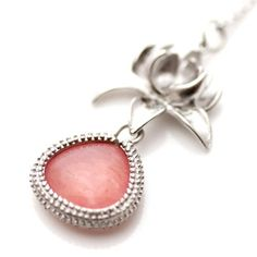 Leaf Necklace Pink, 30€, now featured on Fab.
