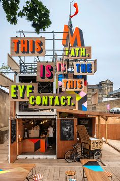 The Movement Cafe in London. A temporary cafe and performance space found next to the DLR station in Greenwich. Built from scratch in just 16 days to coincide with the opening of the Olympics, the site previously was home to a building site.  Images and full story here.