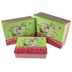 """Nostalgiebox """"for everyone to share"""" Größe S - L Aufbewahrungsbox; bedruckte Pappe; Gr. S: 17,7 x 13,7 x 5,4 cm; Gr. M: 19,7 x 15,2 x 6 cm; Gr. L: 21,7 x 16,7 x 6,8 cm"""