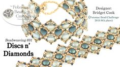 """This video tutorial from The Potomac Bead Company teaches you how to make Bridget Cook's """"Discs n' Diamonds"""" bracelet, taught by Allie Buchman. Find a list o..."""