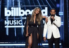 Pin for Later: The Billboard Music Awards Were Sprinkled With Cute Celebrity Duos  Pictured: Ludacris and Ciara