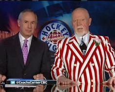 Hockey Night in Canada Don Cherry, Hockey Pictures, Hockey Boards, Hockey Rules, Toronto Maple Leafs, Sharp Dressed Man, Nhl, The Man, Men Dress