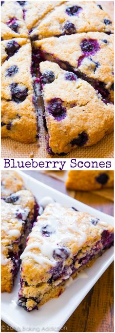 BEST Blueberry Scones recipe by sallysbakingaddiction.com