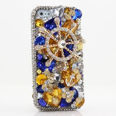 Bling Cases, Handmade 3D crystals Ship Helm design case for iphone 5, iphone 5s, iphone 6, Samsung Galaxy S4, S5, Note 2, Note 3, LG, HTC, Sony – LuxAddiction.com