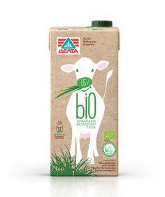 Delta Bio Organic Milk on Packaging of the World - Creative Package Design Gallery Yogurt Packaging, Dairy Packaging, Cheese Packaging, Organic Packaging, Milk Packaging, Food Packaging Design, Beverage Packaging, Bottle Packaging, Packaging Design Inspiration