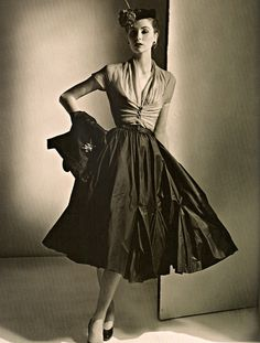 Complete ensemble by Dior, 1952.