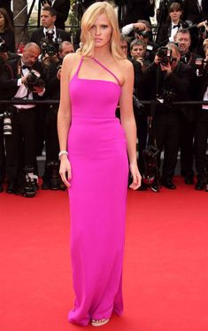 Cutout Details is Trending at #Cannes2014 The Barbie Lara Stone in a cutout details Calvin Klein neon pink dress at the Red Carpet during #Cannes Film Festival 2014