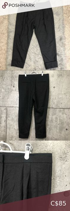 🆕 French Connection Fine Day Flannel Trouser New with tag. Tapered leg. 98% Virgin Wool. Color is dark gray. Please see measurements. French Connection Pants & Jumpsuits