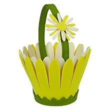 Buy John Lewis Yellow Flower Felt Basket Online at johnlewis.com