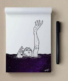 By muhammed salah (ms artwork) inspirational art work, 2019 watercolor art, Art Journal Pages, Apocalypse Now, Videos Kawaii, Dibujos Tumblr A Color, Muhammed Salah, Art Inspiration Drawing, Girls Anime, Galaxy Art, Art Drawings Sketches