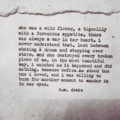 96 Best R M Drake Quotes Images Beautiful Words Proverbs Quotes