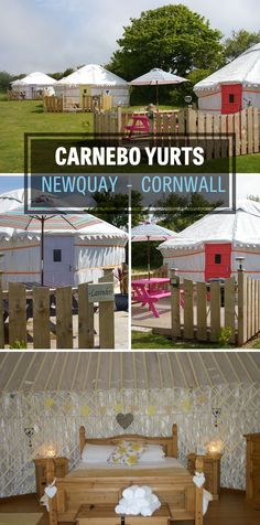 Carnebo Yurts near Newquay in Cornwall