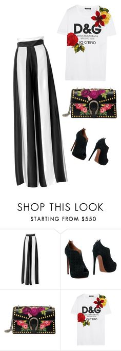 """Untitled #98"" by ivetkafischerova on Polyvore featuring Alaïa, Gucci and Dolce&Gabbana"