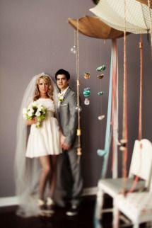 Style Me Pretty Mini Wedding Dress A Chapel Veil Weddingchic Short