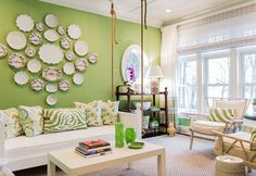 The Prettiest Green Living Rooms