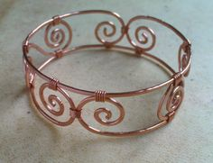 Items similar to Designer Hammered Copper Cuff Bracelet on Etsy