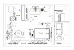 Studio Apartment Layouts Advice and Inspiration & Apartment Therapy The post The Smartest Studio Apartment Layouts We Saw in 2018 appeared first on Dekoration. Studio Apartment Floor Plans, Studio Floor Plans, Studio Apartment Design, Studio Apartment Decorating, Apartment Plans, Basement Apartment, Apartment Living, Micro Apartment, Studio Design
