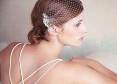 Wedding Veils With Blusher Bandeaus 56 Best Ideas #wedding #BlusherMakeup Veil Hairstyles, Wedding Hairstyles, Blusher Makeup, Bridal Comb, Wedding Veils, Bridal Hair Accessories, Headpiece, Fascinator, Bird Cage