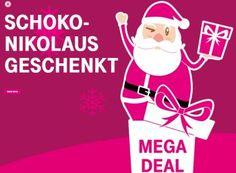 """Gratis: Schokoladen-Nikolaus für Telekom-Kunden zum Nulltarif frei Haus https://www.discountfan.de/artikel/essen_und_trinken/gratis-schokoladen-nikolaus-fuer-telekom-kunden-zum-nulltarif-frei-haus.php Kalorien zum Nulltarif frei Haus gibt es heute für alle Telekom-Kunden: Im """"Megadeal"""" kann man sich ab sofort einen Schokoladennikolaus kostenlos nach Hause schicken lassen. Gratis: Schokoladen-Nikolaus für Telekom-Kunden zum Nulltarif frei Haus (Bild: Telekom.d"""