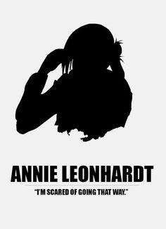 Anime character quotes - Attack on titan - Annie Leonhardt Armin, Mikasa, Ereri, Snk Annie, Annie Leonhart, Image Manga, Character Quotes, Attack On Titan Anime, Another Anime