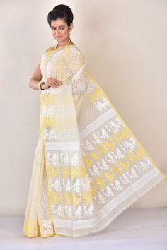Dhakai Jamdani,Colors of Bengal,Regular Sareesl Dhakai Jamdani Saree, Handloom Saree, Bengal, Party Wear, Yards, Indian, Colors, How To Wear, Dresses