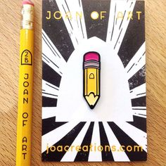 Yellow Pencil Pin Badge Soft Enamel Lapel Pin by JoAcreationsUK Pins Badge, Cute Keychain, Keychains, Retro Logos, Vintage Logos, Cool Pins, Pin And Patches, Crayon, Stickers