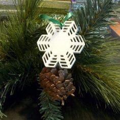 Christmas tree snowflake decoration. Handmade hand painted Xmas decor