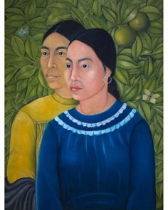 The influence of the Renaissance Old Masters is evident in Kahlo's 1928 painting Two Women (Portrait of Salvadora and Herminia) (Credit: Alamy) Salvador, Diego Rivera Frida Kahlo, Kahlo Paintings, Mexican Artists, Popular Art, Tropical Art, Museum Of Fine Arts, Female Portrait, Figurative Art