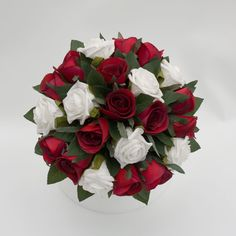 red bridal bouqets | Red-Burgundy and White Bridal Posy | C Floral Designs : Silk Wedding ...