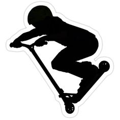 'Scooter Boy (no shadow) Stunt Scooter' Sticker by Skye Ryan-Evans Scooter Drawing, Helmet Drawing, Boy Drawing, Boys Scooter, Kick Scooter, Silhouette Portrait, Silhouette Cameo, Ryan Evans, Skate Ramp